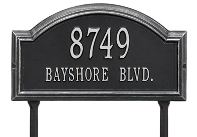 Whitehall Providence Rectangle Arch Lawn Address Plaque
