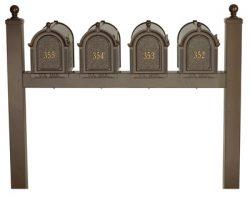 Whitehall Mailboxes Quad Mount Post