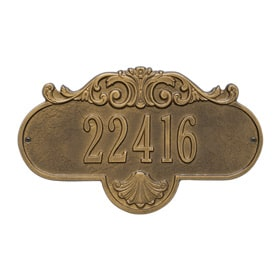 Whitehall Rochelle Address Plaque Antique Brass