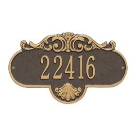 Whitehall Rochelle Address Plaque Bronze Gold