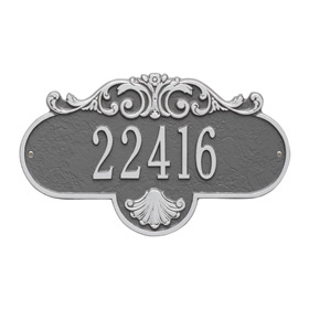 Whitehall Rochelle Address Plaque Pewter Silver