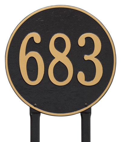 Whitehall 15 Inch Round Lawn Marker Address Plaque Product Image