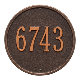 Whitehall Round Plaque Oil Rubbed Bronze