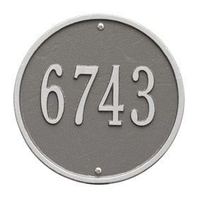 Whitehall Round Address Plaque Pewter Silver