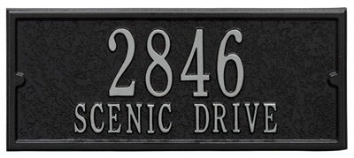 Black and Silver Address Panel