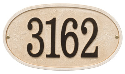 Whitehall Stonework Oval Address Plaques