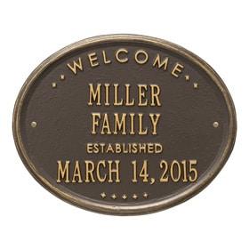 Whitehall Family Established Plaque Bronze Gold