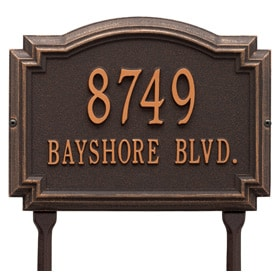 Williamsburg Lawn Marker Oil Rubbed Bronze