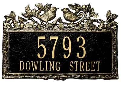 Whitehall Woodland Wren Address Plaque