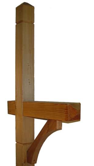 Deluxe Wood Cedar Mailbox Post
