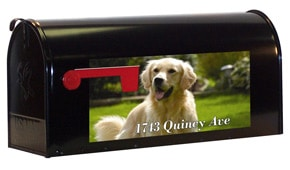 Custom Photo Rectangle Mailbox Lettering