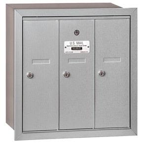 Salsbury 3 Door Vertical Mailbox Aluminum