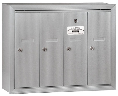 Salsbury 4 Door Surface Vertical Mailbox