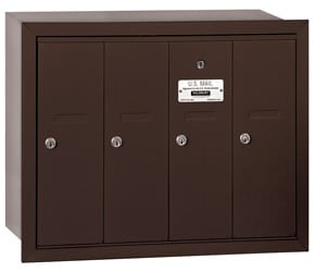 Salsbury 4 Door Vertical Mailbox Bronze