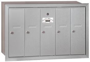 Salsbury 5 Door Vertical Mailbox Aluminum