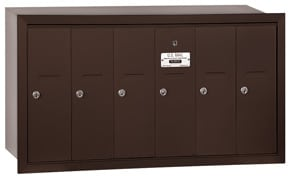 Salsbury 6 Door Vertical Mailbox Bronze