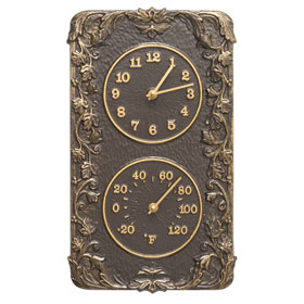 Whitehall Acanthus Clock Thermometer French Bronze
