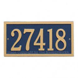 Whitehall Bismark Address Plaque Blue Gold