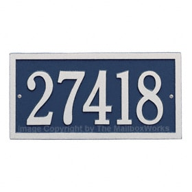 Whitehall Bismark Address Plaque Blue Silver