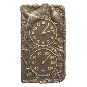 Whitehall Cardinal Clock Thermometer French Bronze