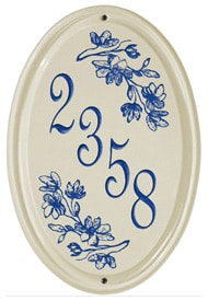 Whitehall Dogwood Vertical Oval Plaque Blue