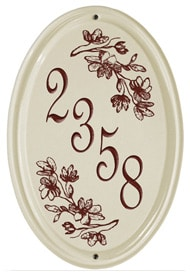 Whitehall Dogwood Vertical Oval Plaque Red