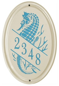 Whitehall Sea Horse Oval Sea Blue