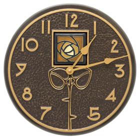 Whitehall Hunter Rose Clock Amber
