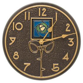 Whitehall Hunter Rose Clock Blue