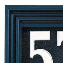 Whitehall Illuminator Address Plaque Black