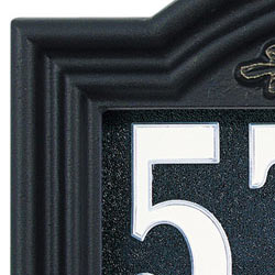 Whitehall Illuminator Address Plaque Black Gold