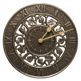 Whitehall Ivy Clock French Bronze