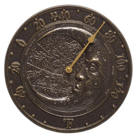 Whitehall Moon Thermometer French Bronze