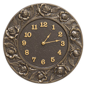 Whitehall Rose Clock French Bronze