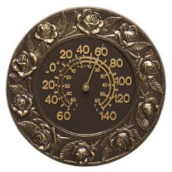 Whitehall Rose Thermometer French Bronze
