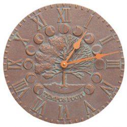 Whitehall Times Seasons Clock Copper Verdigris