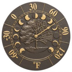 Whitehall Times Seasons Thermometer French Bronze