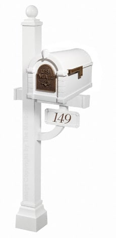 Keystone Eagle Deluxe Post White Bronze
