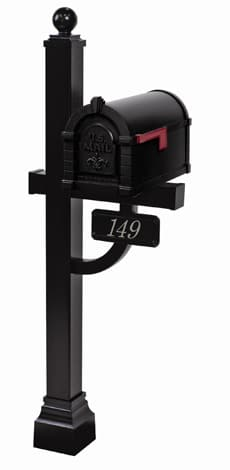 Gaines Keystone FleurDeLis Deluxe Post Black