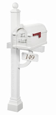 Gaines Keystone Signature Deluxe Post White