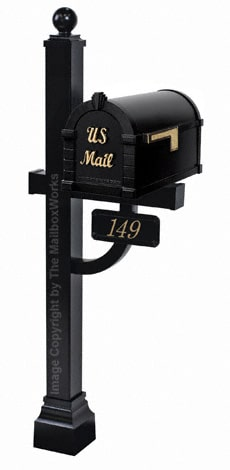 Keystone Signature Deluxe Post Black Brass