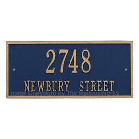 Whitehall Hartford Address Plaque Blue Gold