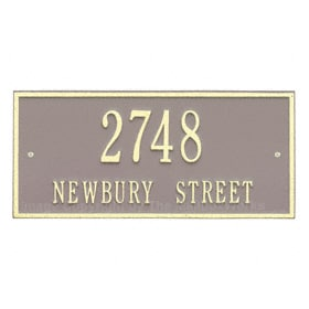 Whitehall Hartford Address Plaque Taupe Ivory