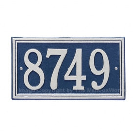 Whitehall Double Line Plaque Blue Silver