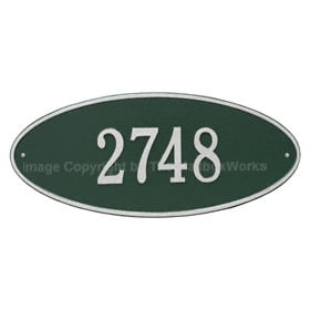 Whitehall Madison Oval Plaque Green Silver