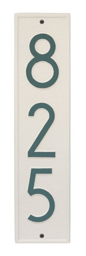 Whitehall Delaware Modern Vertical Address Plaque