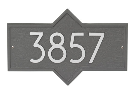 Whitehall Hampton Modern Address Plaque