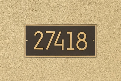 Whitehall Modern Hartford Address Plaque Installed