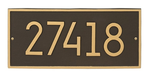 Whitehall Modern Hartford Address Plaque