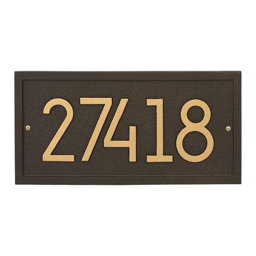 Whitehall Rectangle Modern Address Plaque